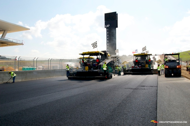 COTA COMPLETES TRACK PAVEMENT WITH SUCCESS